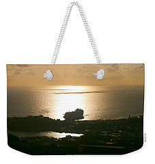 Cruise Ship At Sunset Weekender Tote Bag