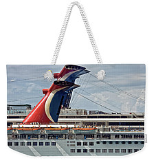Cruise Ships In Cozumel, Mexico Weekender Tote Bag