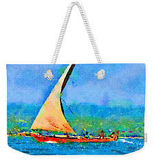 Weekender Tote Bag featuring the painting Cruisin by Angela Treat Lyon
