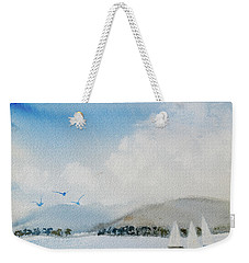 Weekender Tote Bag featuring the painting Cruising In Company Along The Tasmania Coast  by Dorothy Darden