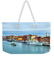 Weekender Tote Bag featuring the photograph Cruising Into Venice # 2 by Mel Steinhauer