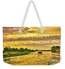Weekender Tote Bag featuring the photograph Cruising Out Of Murrells Inlet by Mel Steinhauer