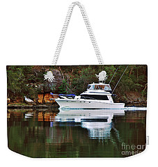 Weekender Tote Bag featuring the photograph Cruising The River By Kaye Menner by Kaye Menner