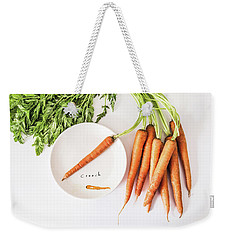 Weekender Tote Bag featuring the photograph Crunch by Kim Hojnacki