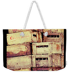 Cruzcampo Beer In Wooden Cases Poster Weekender Tote Bag