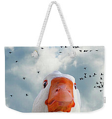 Cry Of The Wild Goose Weekender Tote Bag