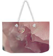 Weekender Tote Bag featuring the photograph Crying In The Rain by Linda Lees