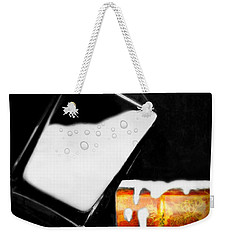 Weekender Tote Bag featuring the photograph Crying Over Spilled Milk by Diana Angstadt