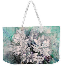 Weekender Tote Bag featuring the painting Crysanthymums by Chris Hobel