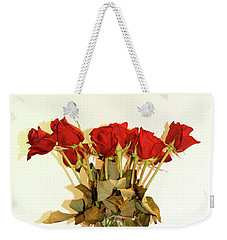 Crystal And Red Roses Weekender Tote Bag