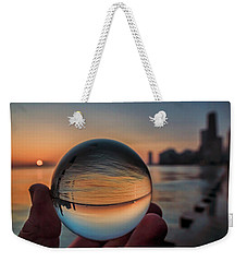 Crystal Ball On Chicago's Lakefront At Sunrise Weekender Tote Bag