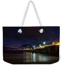 Crystal Beach Pier Blue Hour  Weekender Tote Bag