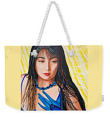 Crystal Blue China Girl Weekender Tote Bag