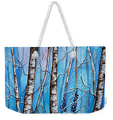 Crystal Blue Forest Weekender Tote Bag
