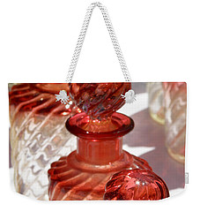 Weekender Tote Bag featuring the photograph Crystal Bottles by Lainie Wrightson