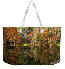 Weekender Tote Bag featuring the photograph Crystal Clear by Iris Greenwell