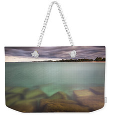 Weekender Tote Bag featuring the photograph Crystal Clear Lake Michigan Waters by Adam Romanowicz