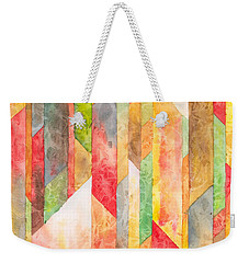 Crystal Colors Watercolor Weekender Tote Bag