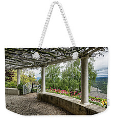 Weekender Tote Bag featuring the photograph Crystal Hermitage Colonnade 5869 by Janis Knight