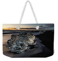 Crystal Ice At Sunrise Weekender Tote Bag