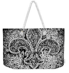 Crystal Ice Fleur De Lis On Black Weekender Tote Bag