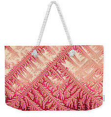 Crystal In Red Pigment Weekender Tote Bag