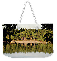 Weekender Tote Bag featuring the photograph Crystal Lake In Whitehall Mi by Ferrel Cordle