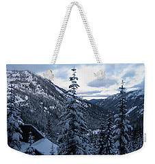 Crystal Mountain Dawn Weekender Tote Bag