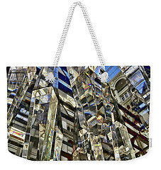 Weekender Tote Bag featuring the photograph Crystal Reflection Trump by Lorella Schoales