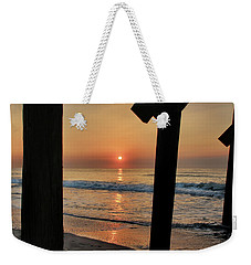 Weekender Tote Bag featuring the photograph Crystal Sunrise by Phil Mancuso