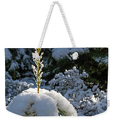 Weekender Tote Bag featuring the photograph Crystal Tree by Jan Davies