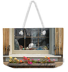 Weekender Tote Bag featuring the photograph Crystal Window by Kim Prowse