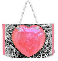 Crystallized Heart Weekender Tote Bag by Hazy Apple