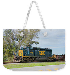 Weekender Tote Bag featuring the photograph Csx Sd40-3 by John Black