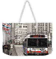 Cta Bus On Michigan Avenue Weekender Tote Bag