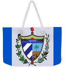 Weekender Tote Bag featuring the drawing Cuba Coat Of Arms by Movie Poster Prints