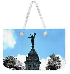 Cuba Rooftop W Protection Statue Weekender Tote Bag