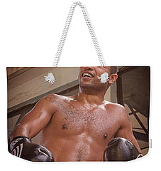 Weekender Tote Bag featuring the photograph Cuban Boxer Ready For Sparring by Joan Carroll