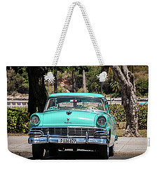 Cuban Car Weekender Tote Bag by David Warrington