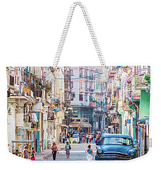 Cuban Street Weekender Tote Bag by David Warrington