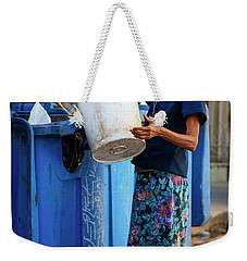 Weekender Tote Bag featuring the photograph Cuban Woman With Cigar by Joan Carroll