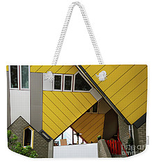Weekender Tote Bag featuring the photograph Cube Houses Detail In Rotterdam by RicardMN Photography