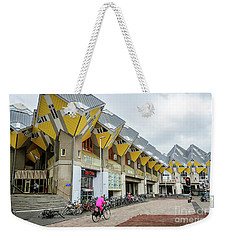 Weekender Tote Bag featuring the photograph Cube Houses In Rotterdam by RicardMN Photography