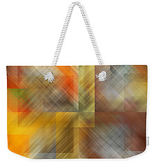 Weekender Tote Bag featuring the photograph Cubic Space by Mark Greenberg