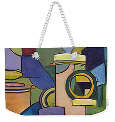 Cubist Pill Bottle Weekender Tote Bag