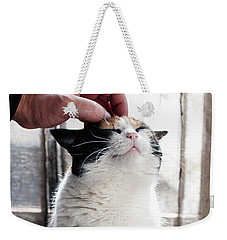 Weekender Tote Bag featuring the photograph Cuddles by Laura Melis