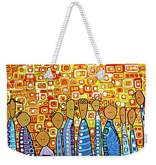 Weekender Tote Bag featuring the painting cue by Donna Howard