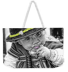 Weekender Tote Bag featuring the photograph Cuenca Kids 888 by Al Bourassa