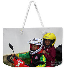 Weekender Tote Bag featuring the photograph Cuenca Kids 889 by Al Bourassa