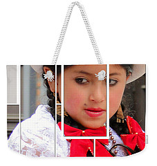Weekender Tote Bag featuring the photograph Cuenca Kids 890 by Al Bourassa